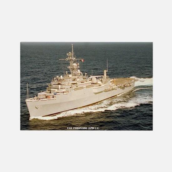 USS CORONADO Rectangle Magnet