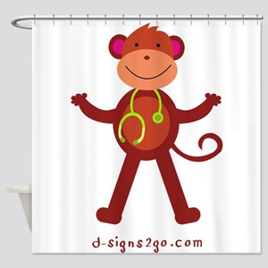 Monkey Medical Professional Shower Curtain