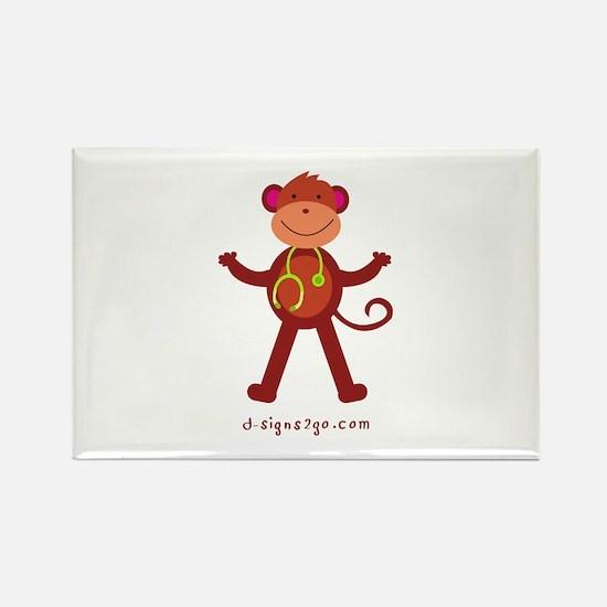 Monkey Medical Professional Rectangle Magnet