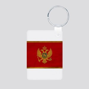 Montenegro Flag Aluminum Photo Keychain