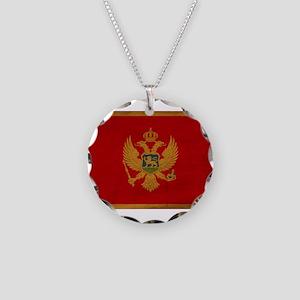 Montenegro Flag Necklace Circle Charm