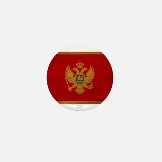 Montenegro Flag Mini Button