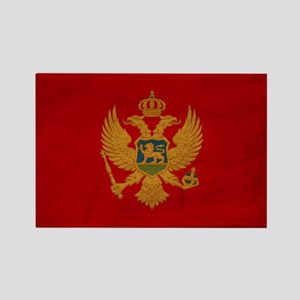 Montenegro Flag Rectangle Magnet