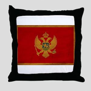 Montenegro Flag Throw Pillow