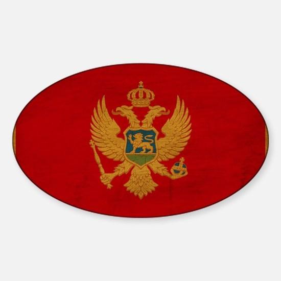 Montenegro Flag Sticker (Oval)