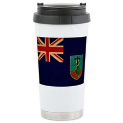 Montserrat Flag Stainless Steel Travel Mug