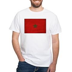 Morocco Flag White T-Shirt