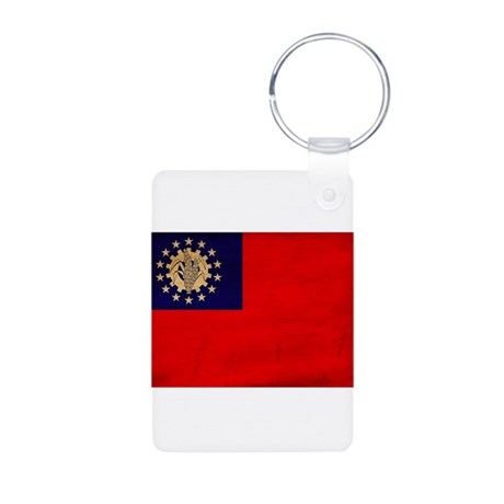 Myanmar Flag Aluminum Photo Keychain