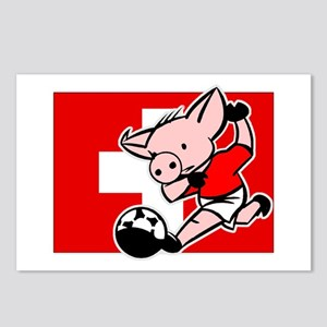 Switzerland Soccer Pigs Postcards (Package of 8)