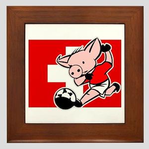 Switzerland Soccer Pigs Framed Tile