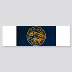 Nebraska Flag Sticker (Bumper)
