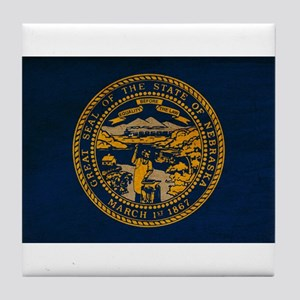 Nebraska Flag Tile Coaster