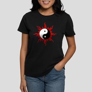 Yin Yang Symbol Women's Dark T-Shirt