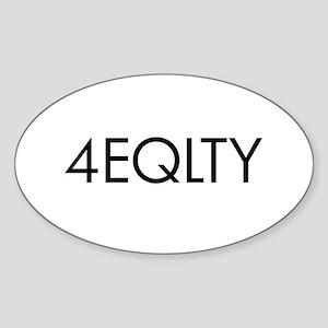 LGBT Equality Oval Sticker