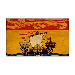New Brunswick Flag 22x14 Wall Peel