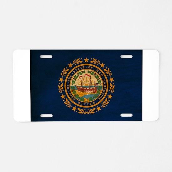 New Hampshire Flag Aluminum License Plate