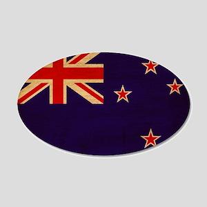 New Zealand Flag 22x14 Oval Wall Peel