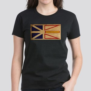 Newfoundland Flag Women's Dark T-Shirt