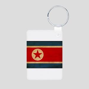 North Korea Flag Aluminum Photo Keychain