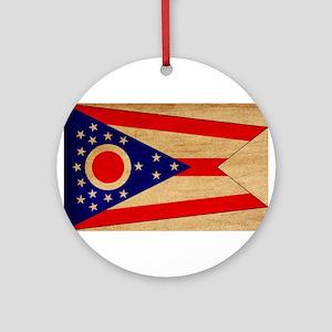 Ohio Flag Ornament (Round)