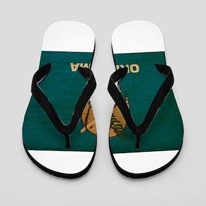 Oklahoma Flag Flip Flops