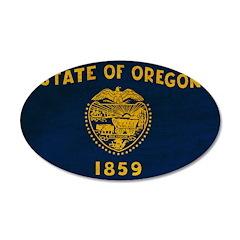 Oregon Flag 22x14 Oval Wall Peel