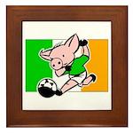 Ireland Soccer Pigs Framed Tile