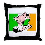 Ireland Soccer Pigs Throw Pillow