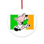 Ireland Soccer Pigs Ornament (Round)