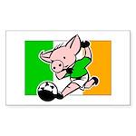 Ireland Soccer Pigs Rectangle Sticker