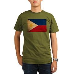 Philippines Flag Organic Men's T-Shirt (dark)