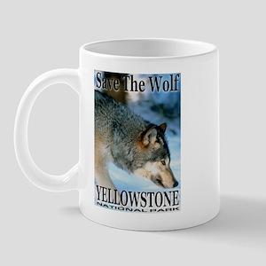 Save The Wolf YNP Large Print Mug