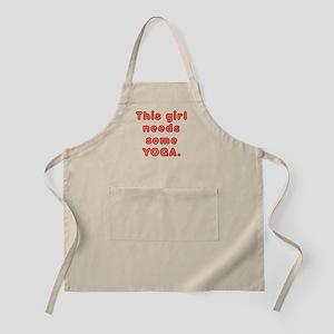 This Girl Needs Yoga. Apron