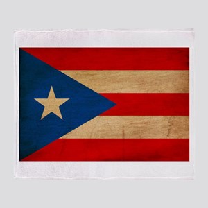 Puerto Rico Flag Throw Blanket