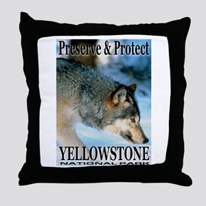 Preserve & Protect YNP Throw Pillow