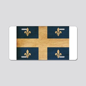 Quebec Flag Aluminum License Plate