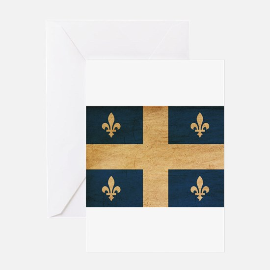Quebec Flag Greeting Card
