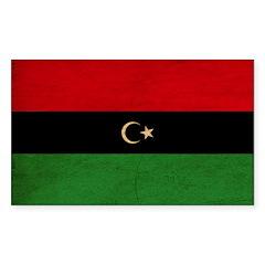 Republic of Libya Flag Sticker (Rectangle)