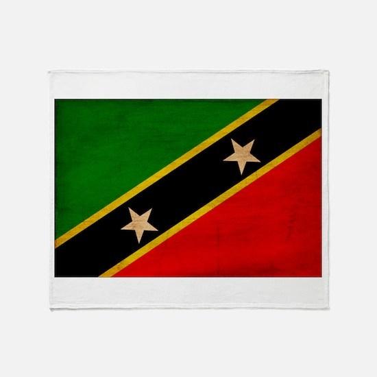 Saint Kitts Nevis Flag Throw Blanket