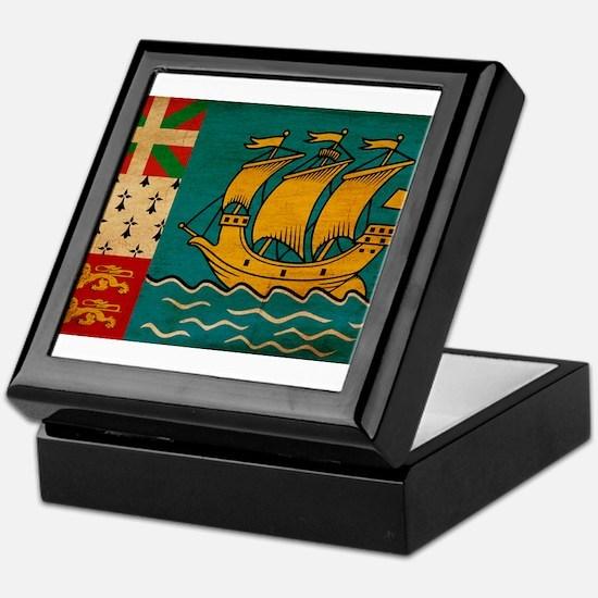 Saint Pierre and Miquelon Fla Keepsake Box