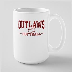 Outlaws Softball Large Mug