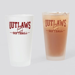 Outlaws Softball Drinking Glass