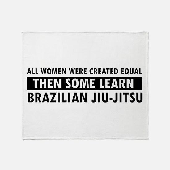 Brazilian Jiu-Jitsu design Throw Blanket