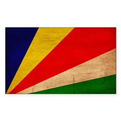 Seychelles Flag Sticker (Rectangle)