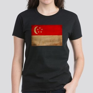 Singapore Flag Women's Dark T-Shirt