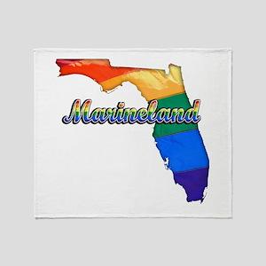 Marineland, Florida, Gay Pride, Throw Blanket
