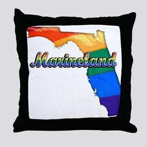 Marineland, Florida, Gay Pride, Throw Pillow