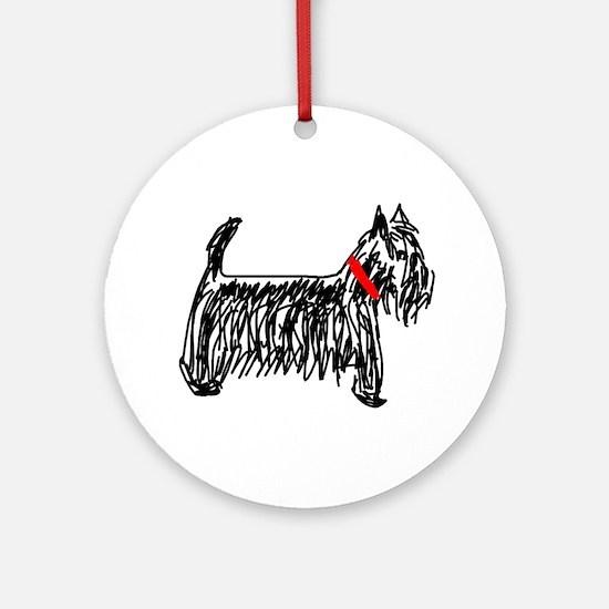 Scottish Terrier | Scottie Ornament (Round)