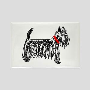 Scottish Terrier | Scottie Rectangle Magnet