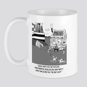 Fishing Below the Sewage Pipe Mug